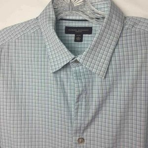 Banana Republic Button Up Shirt Blue Plaid L 161/2